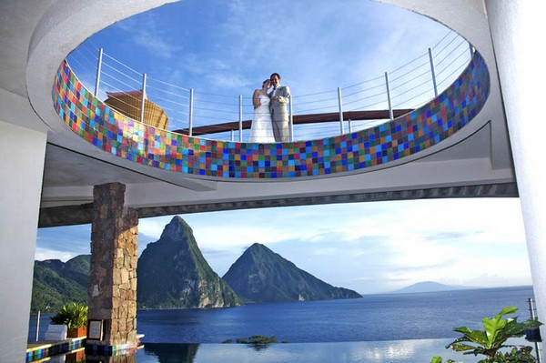Inspiring Infinity Pool Ideas: Jade Mountain Resort Private Infinity Pool Design: Wedding At Jade Mountain Resort With St Lucias Stunning Scenic Beauty View Ideas