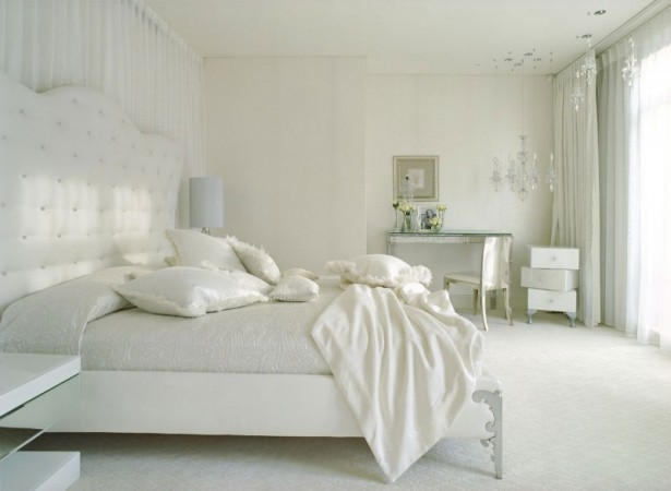 An Extraordinary Weekend Getaway at the Kensington House: White Curtain White Blanket White Bed White Bed Frame White Ceiling ~ stevenwardhair.com Country Home Design Inspiration