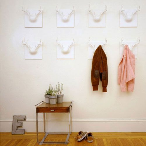 The Most Creative Wall Hook Design: White Resin Ghost Antler Coat Rack Is Handmade By Erich Ginder 2