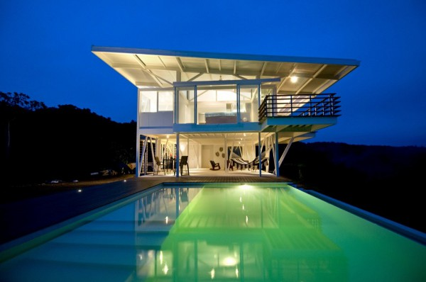 Best 10 Self Sustainable House: White Steel Villa Sustainable House Design That Called Iseami House