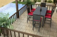Marvelous Dining Tables Set And Chairs : Wicker Bar Set By Forever Patio With Tall Dining Table Set And Furniture Bar Height Patio Dining Set