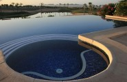 Spectacular Infinity Pool 2 : Wonderful Spectacular Infinity Pool Outdoor Design With Pond Stone Flooring Ideas