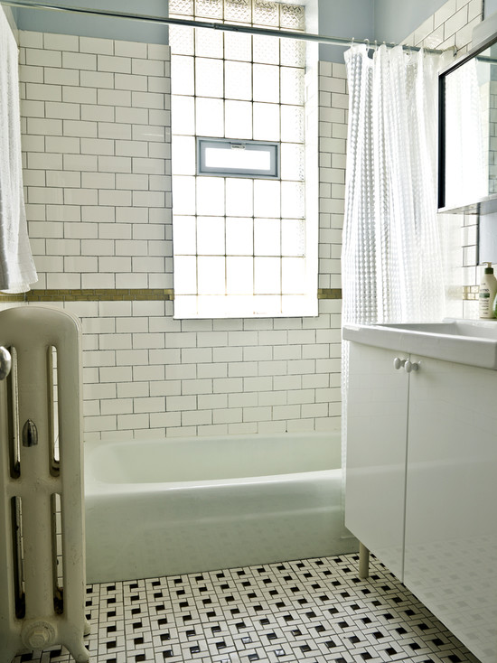 Vintage Tile Patterns For Bathroom And Kitchen Design: Wonderful White Vintage Bathroom Tile Patterns At Traditional Bathroom ~ stevenwardhair.com Bathroom Design Inspiration