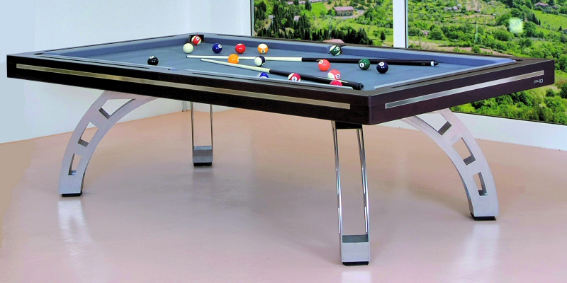 ... Dining All Kind Of Awesome Luxury Pool Diner Table Design : Luxury 7ft  Roman Brown Modern Pool ...