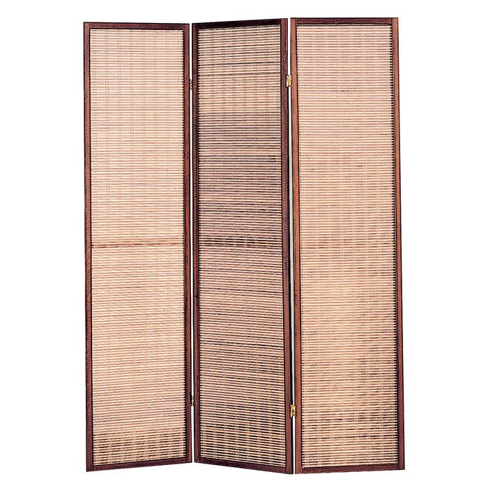 Variant Folding Screens Room Dividers For Your True Inspiration : 3 Panel Jute Inlay Folding Screen Room