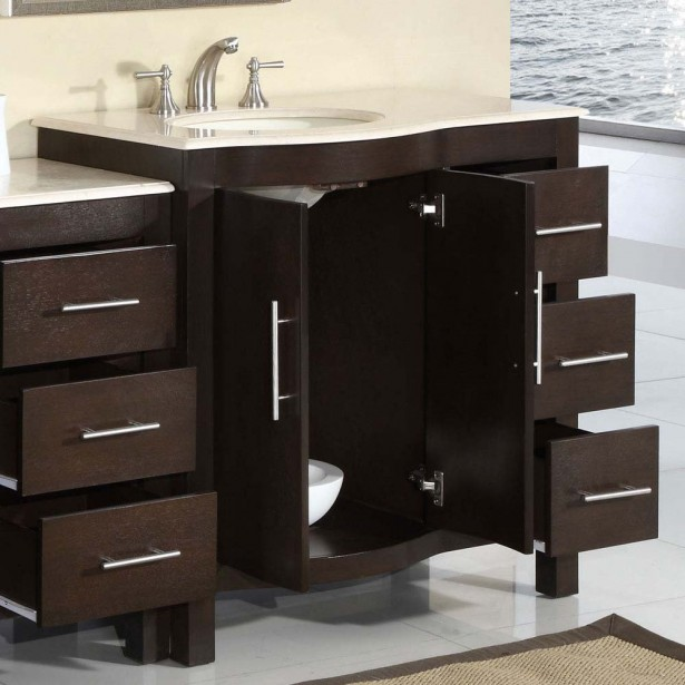 Bathroom Sink Cabinet Ideas: 53 5 Silkroad Kimberly Single Sink Cabinet Bathroom Vanity Bathroom Sink Cabinet Ideas ~ stevenwardhair.com Bathroom Design Inspiration