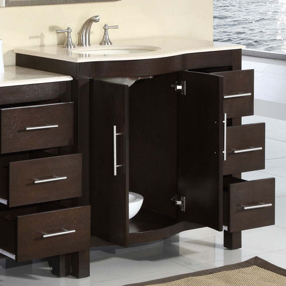 Bathroom Sink Cabinet Ideas: 53 5 Silkroad Kimberly Single Sink Cabinet Bathroom Vanity Bathroom Sink Cabinet Ideas