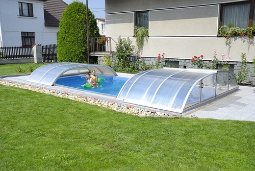 Joyful Above Ground Pool Decks With Natural Atmosphere : Above Ground Pool Decks Grass Green