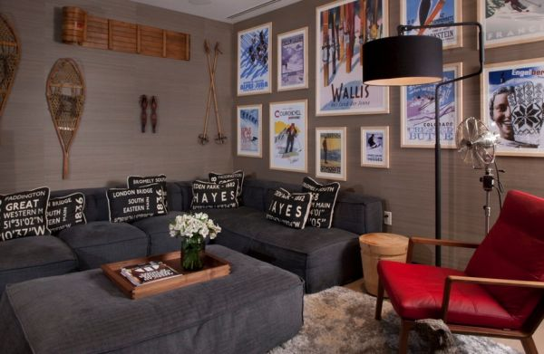 Simple Modern Design Inspiration For Your Home : Accentuate The Central Theme Of The Room With Appropriate Posters