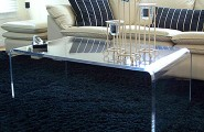 Amazing 20 Chic Acrylic Coffee Tables In Your House : Acrylic Decor Waterfall Cocktail Table