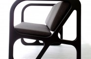 Geometric Modern Chair For Every Room Decoration : Adorable Balck Color Of Obivan Chairs Design From The Left Side
