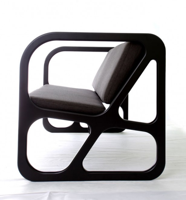 Geometric Modern Chair For Every Room Decoration: Adorable Balck Color Of Obivan Chairs Design From The Left Side ~ stevenwardhair.com Chairs Inspiration
