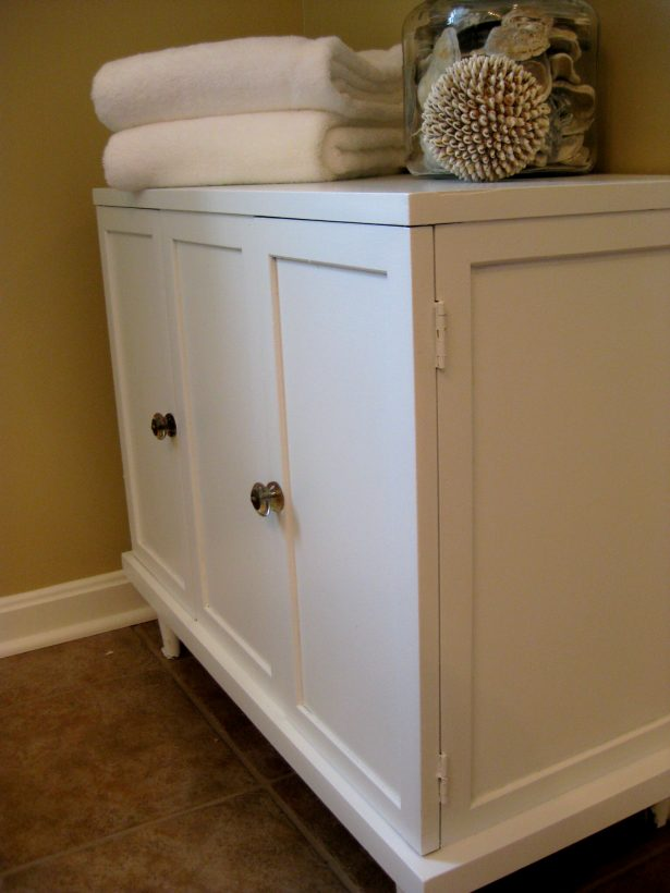 Bathroom Cabinet Ideas Creative Designs: After A Little Elbow Grease And Some Paint Bathroom Cabinet ~ stevenwardhair.com Cabinets Inspiration