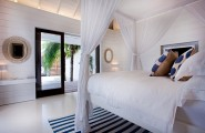 Extravagant Caribbean Villa Which Full Of Refreshment : All White Comfy Bedroom Design
