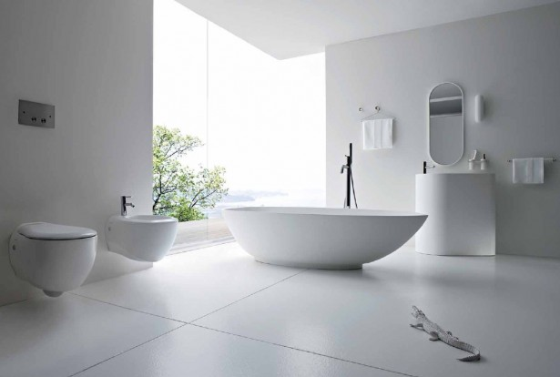 Extraordinary Luxury Bathrooms With High Gloss Finish Washing Stand: Amazing Bathroom Interior Glass Wall Accent Modern Luxury Bathrooms Design ~ stevenwardhair.com Bathroom Design Inspiration