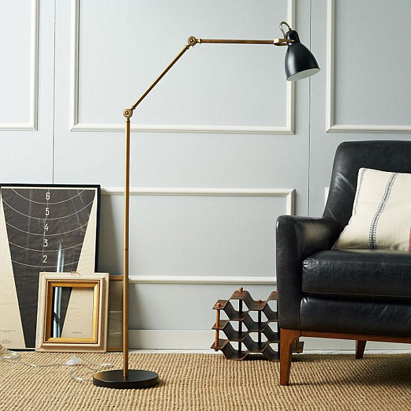Splendid Room Decoration Ideas Use Gold Silver Touch For Luxury: Amazing Brass Floor Lamp With Traditional Interior And Furniture Design Ideas ~ stevenwardhair.com Interior Design Inspiration