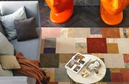 Popular Energetic Apartment Going To New Look : Amazing Energetic Apartment With Two Orange Masks And Colorful Carpet
