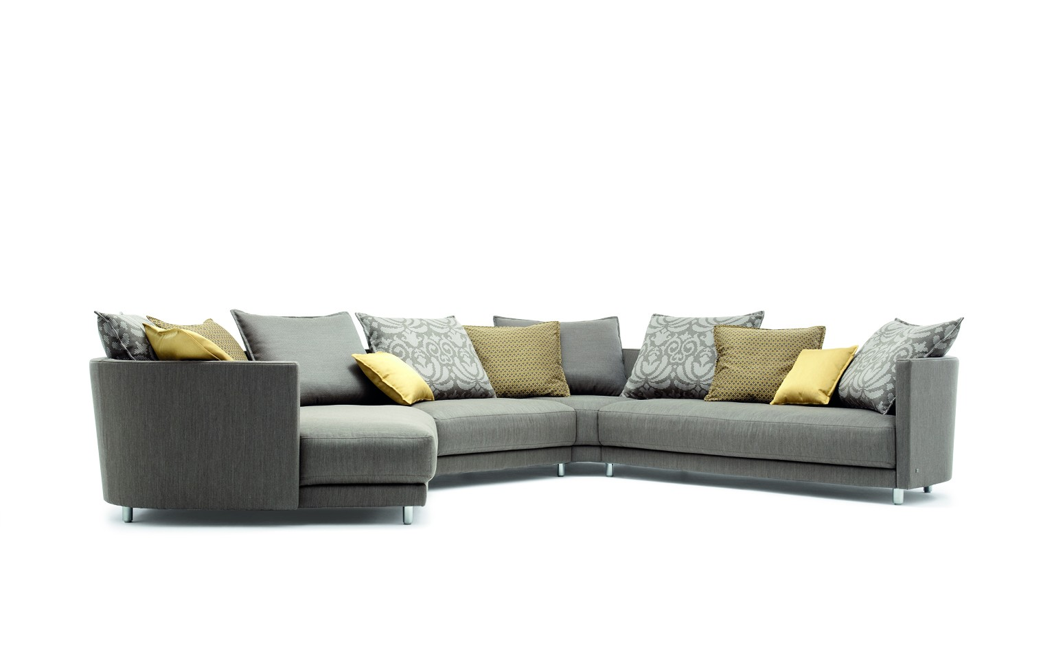 Amazing Rolf Benz Sofa Price Range: Amazing Grey Color Floral Cushion Decor Rolf Benz Sofa Price Design