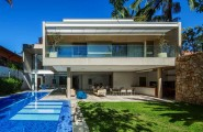 Luxurious Modern Home Design; Four Leveled House : Amazing MG Residence Design With Glass Fence And Stone Wall