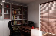 Fantastic Study Room Models With Wood Furniture For Natural Look : Amazing Modern Study Room Models Wooden Floor White Interior Design