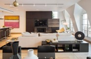 Stylish Penthouse Style Creating Comfortable Penthouse Design : Amusing Living Room In The Tribeca Penthouse With Signature Design