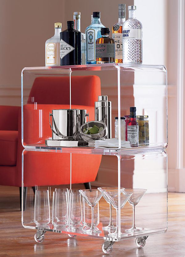 Acrylic Tables For Your Choice Of Unique Furniture : An Acrylic Rolling Side Table