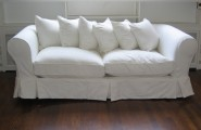 White Sofas With Unique Ambiance : Antique And Older Crafted Sofa