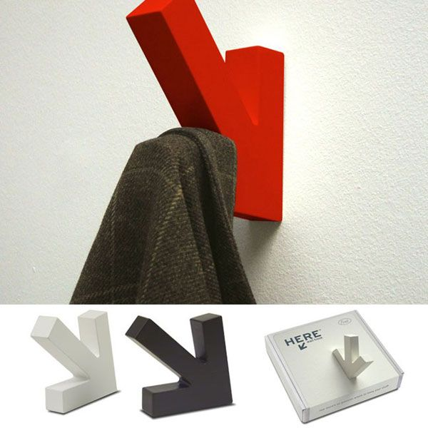 Imaginative Wall Hooks For Coats As The True Inspiring Functional Adornment: Arrow Style Wall Hook