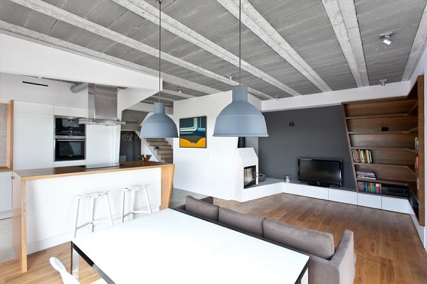 Scandinavian Minimalist House With Stylish Interior Design: Astonishing Dining Room With Pendants Beam Block House In Poland2 ~ stevenwardhair.com Interior Design Inspiration
