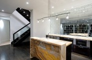 Breathtaking Natural Interior: Mineral Stone Material For Interiors : Astonishing Kitchen Design With Mineral Tone On Island