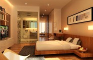 Incredible Master Suite Designs Provide Ideal Space With Nice View : Astonishing Master Suite Designs Modern Wooden Floor White Interior