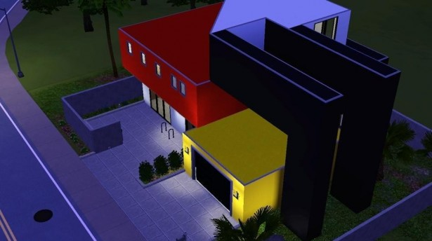 Stunning Bright Contemporary Home Gives Wide Visualization In House: Astonishing Minimalist Bright Contemporary Home Colorful Exterior Design ~ stevenwardhair.com Contemporary Home Design Inspiration