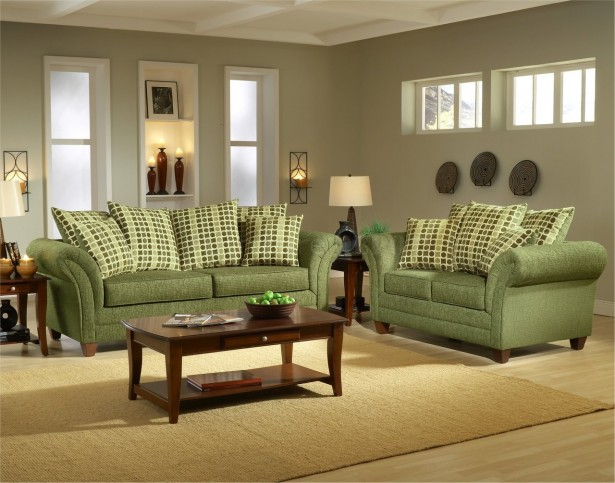 Green Sofas And Eco Friendly Furniture: Astonishing Modern Artistic Green Sofas Gray Interior Room Design ~ stevenwardhair.com Sofas Inspiration
