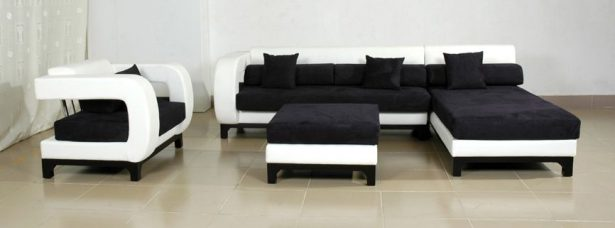 Best Sofas For Modern Futuristic Houses: Avella Modern White Black Leather 4 Pc Sofa Set ~ stevenwardhair.com Sofas Inspiration