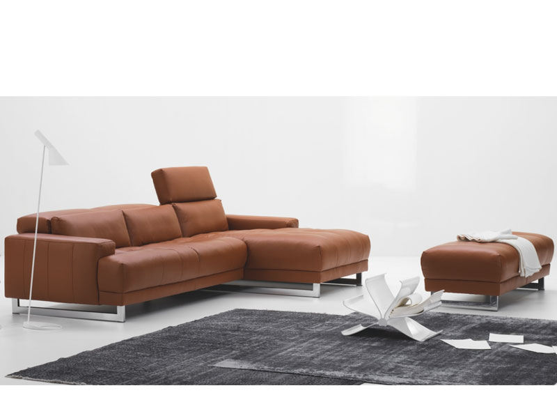 Schillig Sofa Perfect Furniture In A House Or In An Office : Awesome Brown Color Contemporary Artistic Schillig Sofa Design