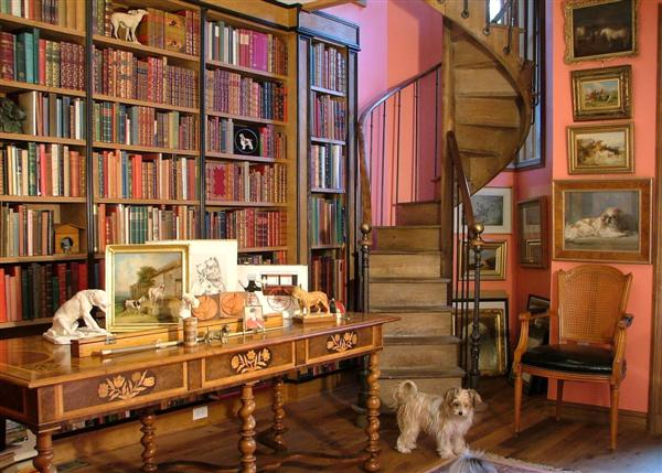 Unique Home Library Design Pictures For Superb Room Performances: Awesome Classic Wooden Style Home Library Design Pictures