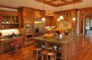 Simple Kitchen Remodel Ideas For Your Kitchen : Awesome Classicl Modern Wooden Cabinets Kitchen Remodel Ideas