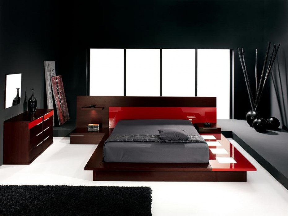 Cool Black Bedroom Furniture Appropriate With Various Bedroom Ideas : Awesome Exquisite Bedroom Black Bedroom Furniture Wooden Platform Bunk