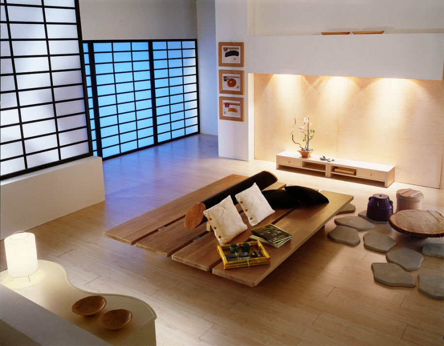 Interior Design Living Room Offers Modern Minimalist Style : Awesome Interior Design Living Room On Furniture Japanese Style