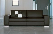 Modern Sofas For More Comfortable Living Room : Awesome Modern Brown Color Arts Sofas Baratos Design