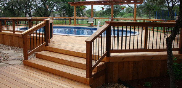 Mor Furniture Portland In Modern Style For Happy Family : Awesome Modern Wooden Deck Mor Furniture Portland Oval Design