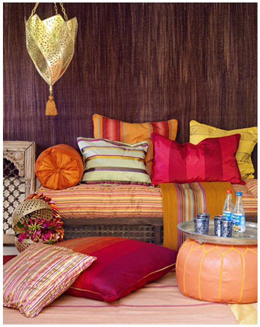 Contemporary Moroccan Decor For Bedroom: Awesome Moroccan Decor Sitting Arean Sun Room Bright Colorful Design