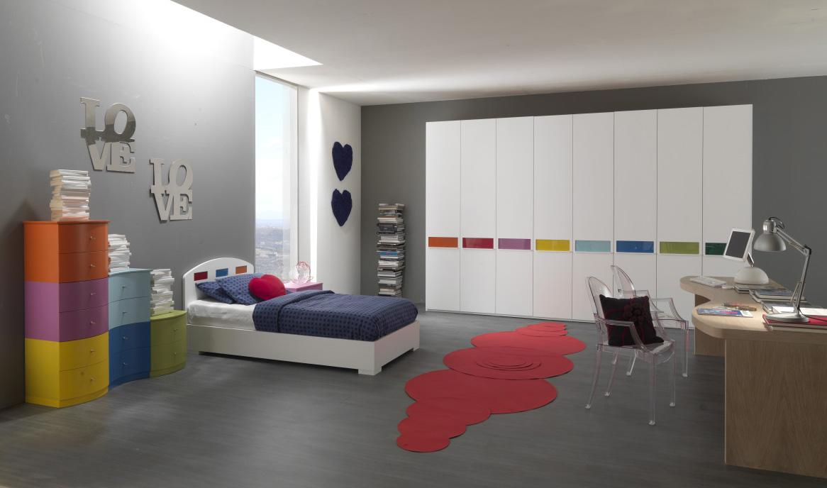 Colorful Kids Bedroom Ideas In Small Design: Awesome Teens Room Colorful Kids Bedroom Ideas Kids Desk
