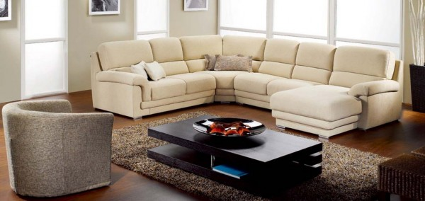 Beautiful And Affordable Modern Furniture For Your House: Awesome White Color Sofa Affordable Modern Furniture Design