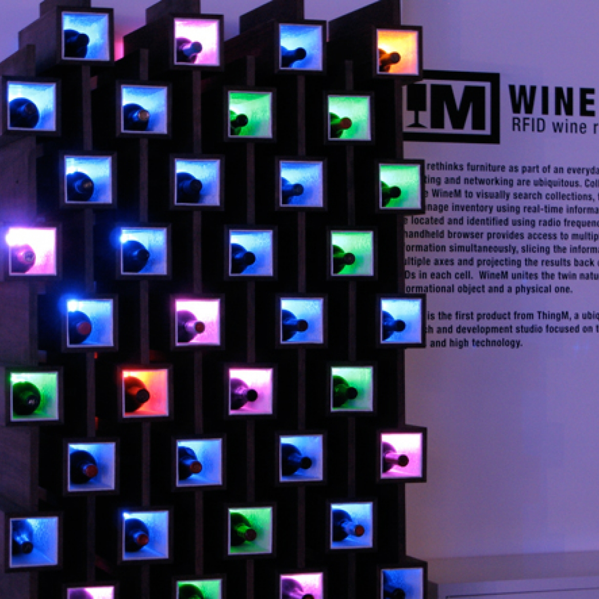Eclectic Wine Rack For Contemporary House : Awesome Wine Rack Design Colorful Bottle Place Modern Furniture