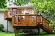 Modern Outside Decks For Outdoor Lounge : Bacyard Garden Wooden Steps Outdoor Dining Set Beautiful Outside Decks