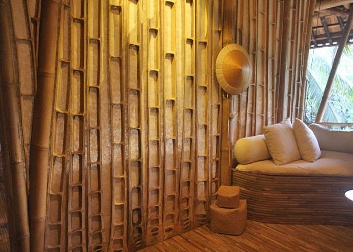 Bamboo Wall Panels Bring You To The Real Tradition: Bamboo Wall Paneling From Center Slice