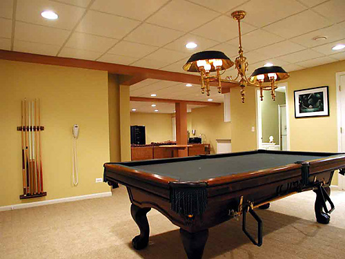 Excellent Ideas And Designs For Renovating A Basement: Basement Remodeling Into Billiard Room Ideas ~ stevenwardhair.com Tips & Ideas Inspiration