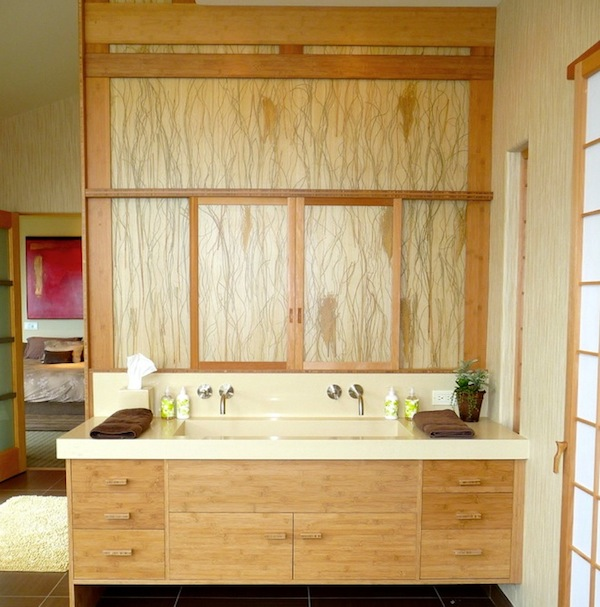 Bathroom Design For Tranquil Environment: Bathroom Sink Asian Inspired