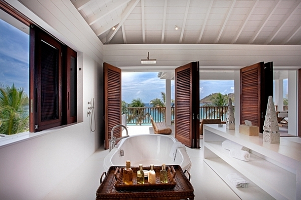 Extravagant Caribbean Villa Which Full Of Refreshment: Bathroom With A View